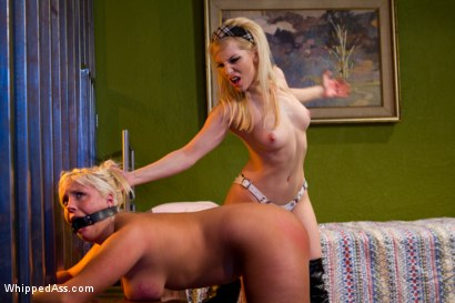 Photo number 8 from Kinky Blond Sorority Sisters shot for Whipped Ass on Kink.com. Featuring Ashley Fires and Kait Snow in hardcore BDSM & Fetish porn.