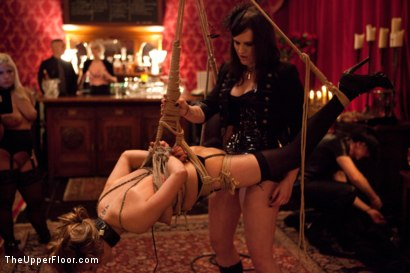 Photo number 19 from Masters' Evening shot for The Upper Floor on Kink.com. Featuring Kait Snow, Jessie Cox, Iona Grace and Krysta Kaos in hardcore BDSM & Fetish porn.