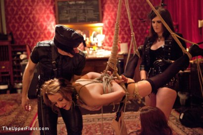 Photo number 21 from Masters' Evening shot for The Upper Floor on Kink.com. Featuring Kait Snow, Jessie Cox, Iona Grace and Krysta Kaos in hardcore BDSM & Fetish porn.