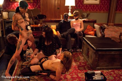 Photo number 6 from Masters' Evening shot for The Upper Floor on Kink.com. Featuring Kait Snow, Jessie Cox, Iona Grace and Krysta Kaos in hardcore BDSM & Fetish porn.