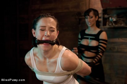 Photo number 3 from Electric Fence shot for Wired Pussy on Kink.com. Featuring Cheyenne Jewel and Isis Love in hardcore BDSM & Fetish porn.