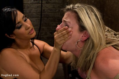 "Photo number 10 from MILF with ""EE"" tits has so many orgasms ripped out of her<br>Cries from the brutal emotion of it all shot for Hogtied on Kink.com. Featuring Sara Jay and Isis Love in hardcore BDSM & Fetish porn."