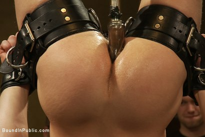 Photo number 11 from Trent Diesel  Bound and suspended upside down while brutally fucke shot for Bound in Public on Kink.com. Featuring Trent Diesel and Christian Wilde in hardcore BDSM & Fetish porn.