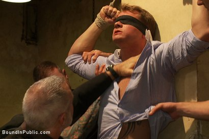 Photo number 1 from Trent Diesel  Bound and suspended upside down while brutally fucke shot for Bound in Public on Kink.com. Featuring Trent Diesel and Christian Wilde in hardcore BDSM & Fetish porn.