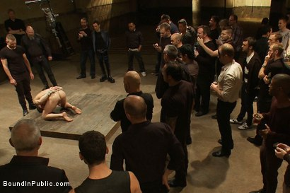 Photo number 7 from Trent Diesel <br> Bound and suspended upside down while brutally fucke shot for Bound in Public on Kink.com. Featuring Trent Diesel and Christian Wilde in hardcore BDSM & Fetish porn.