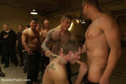 Photo number 10 from Trent Diesel <br> Bound and suspended upside down while brutally fucke shot for Bound in Public on Kink.com. Featuring Trent Diesel and Christian Wilde in hardcore BDSM & Fetish porn.