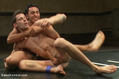 Photo number 6 from Gianni Luca vs Adonis shot for Naked Kombat on Kink.com. Featuring Gianni Luca and Adonis in hardcore BDSM & Fetish porn.