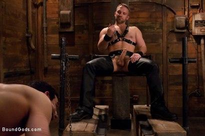 Photo number 1 from Master Dirk Caber shot for Bound Gods on Kink.com. Featuring Dirk Caber and Jason Miller in hardcore BDSM & Fetish porn.