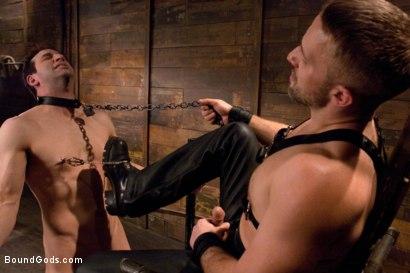 Photo number 6 from Master Dirk Caber shot for Bound Gods on Kink.com. Featuring Dirk Caber and Jason Miller in hardcore BDSM & Fetish porn.