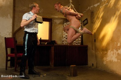 Photo number 2 from The policeman fucks with our creepy janitor. shot for Bound Gods on Kink.com. Featuring Brenn Wyson and Ned Mayhem in hardcore BDSM & Fetish porn.