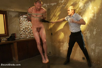 Photo number 4 from The policeman fucks with our creepy janitor. shot for Bound Gods on Kink.com. Featuring Brenn Wyson and Ned Mayhem in hardcore BDSM & Fetish porn.