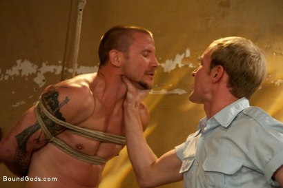 Photo number 3 from The policeman fucks with our creepy janitor. shot for Bound Gods on Kink.com. Featuring Brenn Wyson and Ned Mayhem in hardcore BDSM & Fetish porn.