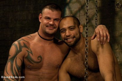 Photo number 15 from New dom Derrick Hanson pounds the living hell out of house slave Leo Forte. shot for Bound Gods on Kink.com. Featuring Leo Forte and Derrick Hanson in hardcore BDSM & Fetish porn.