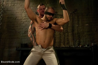Photo number 1 from New dom Derrick Hanson pounds the living hell out of house slave Leo Forte. shot for Bound Gods on Kink.com. Featuring Leo Forte and Derrick Hanson in hardcore BDSM & Fetish porn.