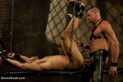 Photo number 13 from New dom Derrick Hanson pounds the living hell out of house slave Leo Forte. shot for Bound Gods on Kink.com. Featuring Leo Forte and Derrick Hanson in hardcore BDSM & Fetish porn.