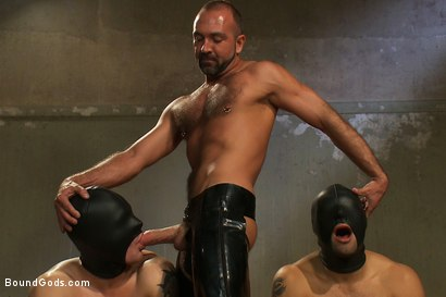 Photo number 6 from Trent Diesel, Leo Forte and a giant cock! <br> Live Shoot shot for Bound Gods on Kink.com. Featuring Leo Forte, Josh West, Trent Diesel and Van Darkholme in hardcore BDSM & Fetish porn.