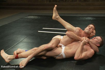 Photo number 3 from DJ vs Kyle Braun shot for Naked Kombat on Kink.com. Featuring Kyle Braun and DJ in hardcore BDSM & Fetish porn.