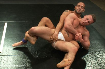 Photo number 4 from Leo Forte vs Roman Rivers shot for Naked Kombat on Kink.com. Featuring Roman Rivers and Leo Forte in hardcore BDSM & Fetish porn.