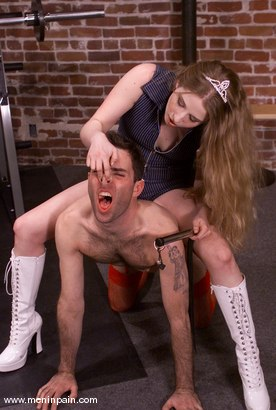 Photo number 2 from Joey Sommers and Princess Kali shot for Men In Pain on Kink.com. Featuring Joey Sommers and Princess Kali in hardcore BDSM & Fetish porn.