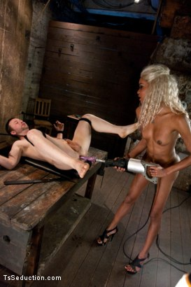 Photo number 9 from One Man's Fantasy: <br> Ts Cock Punishing His Ass shot for TS Seduction on Kink.com. Featuring Mistress Soleli and Will Jasper in hardcore BDSM & Fetish porn.