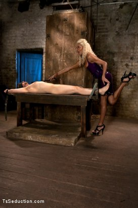Photo number 1 from One Man's Fantasy: <br> Ts Cock Punishing His Ass shot for TS Seduction on Kink.com. Featuring Mistress Soleli and Will Jasper in hardcore BDSM & Fetish porn.