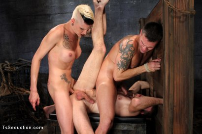 Photo number 3 from The Wrong Woman <br> Transexual Take Down shot for TS Seduction on Kink.com. Featuring Danni Daniels, Lance Navarro and Jesse Carl in hardcore BDSM & Fetish porn.