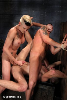 Photo number 4 from The Wrong Woman <br> Transexual Take Down shot for TS Seduction on Kink.com. Featuring Danni Daniels, Lance Navarro and Jesse Carl in hardcore BDSM & Fetish porn.