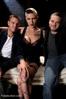Photo number 15 from The Wrong Woman <br> Transexual Take Down shot for TS Seduction on Kink.com. Featuring Danni Daniels, Lance Navarro and Jesse Carl in hardcore BDSM & Fetish porn.