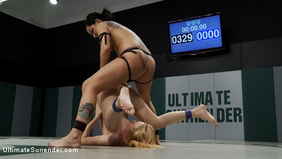 Photo number 14 from Two hot rookies battle it out for their 1st win<br>One will win, one will get ass fucked for losing. shot for Ultimate Surrender on Kink.com. Featuring Emma Haize and Tori Lux in hardcore BDSM & Fetish porn.