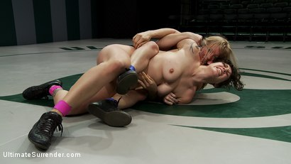 Photo number 6 from Titans battle it out in non-scripted sex wrestling<br>Loser got fisted, brutally fucked by winner. shot for Ultimate Surrender on Kink.com. Featuring Dia Zerva and Saffron in hardcore BDSM & Fetish porn.