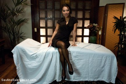 Photo number 15 from The Massage Parlor shot for Sex And Submission on Kink.com. Featuring Asa Akira and Mr. Pete in hardcore BDSM & Fetish porn.