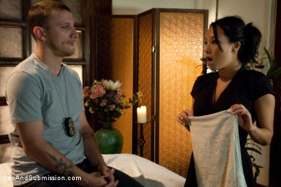 Photo number 6 from The Massage Parlor shot for Sex And Submission on Kink.com. Featuring Asa Akira and Mr. Pete in hardcore BDSM & Fetish porn.