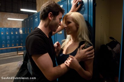 Photo number 2 from Use My Girlfriend shot for Sex And Submission on Kink.com. Featuring James Deen, Haley Cummings and Mr. Pete in hardcore BDSM & Fetish porn.