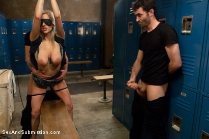 Photo number 4 from Use My Girlfriend shot for Sex And Submission on Kink.com. Featuring James Deen, Haley Cummings and Mr. Pete in hardcore BDSM & Fetish porn.
