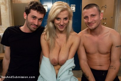 Photo number 15 from Use My Girlfriend shot for Sex And Submission on Kink.com. Featuring James Deen, Haley Cummings and Mr. Pete in hardcore BDSM & Fetish porn.