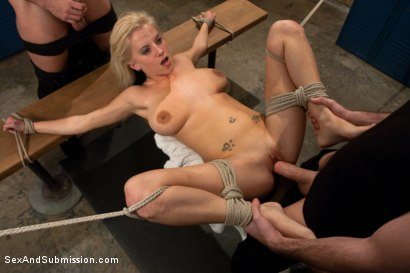 Photo number 13 from Use My Girlfriend shot for Sex And Submission on Kink.com. Featuring James Deen, Haley Cummings and Mr. Pete in hardcore BDSM & Fetish porn.