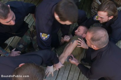 Photo number 4 from Perverted Punishment - Brenn Wyson shot for Bound in Public on Kink.com. Featuring Brenn Wyson, Josh West and Nick Moretti in hardcore BDSM & Fetish porn.
