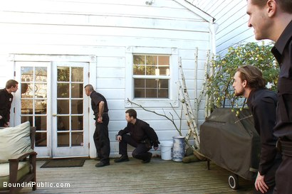 Photo number 3 from Perverted Punishment - Brenn Wyson shot for Bound in Public on Kink.com. Featuring Brenn Wyson, Josh West and Nick Moretti in hardcore BDSM & Fetish porn.