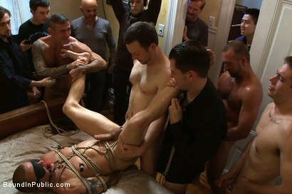 Photo number 11 from Perverted Punishment - Brenn Wyson shot for Bound in Public on Kink.com. Featuring Brenn Wyson, Josh West and Nick Moretti in hardcore BDSM & Fetish porn.