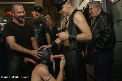 Photo number 4 from Ripped boy gets his hole shocked and filled at Mr. S Leather Store.  shot for Bound in Public on Kink.com. Featuring Josh West and DJ in hardcore BDSM & Fetish porn.