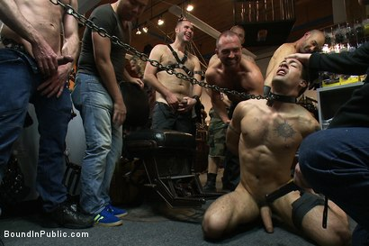 Photo number 2 from Ripped boy gets his hole shocked and filled at Mr. S Leather Store.  shot for Bound in Public on Kink.com. Featuring Josh West and DJ in hardcore BDSM & Fetish porn.