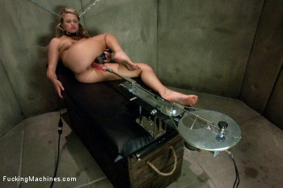 Photo number 8 from Blond Babe Hat Trick <br> Machine Fucking of Three Beautiful Blond Babes shot for Fucking Machines on Kink.com. Featuring Lorelei Lee, Lily LaBeau and Heather Starlett in hardcore BDSM & Fetish porn.