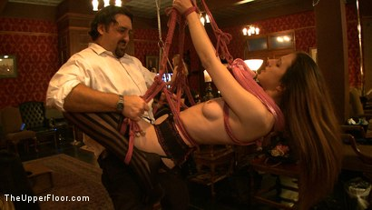 Photo number 11 from Stefanos' Brunch shot for The Upper Floor on Kink.com. Featuring Maestro Stefanos and Nerine Mechanique in hardcore BDSM & Fetish porn.