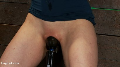 Photo number 12 from Big titted MILF, feels the evil bite of a crotch rope<br>Orgasms are ripped out of her helpless body shot for Hogtied on Kink.com. Featuring Annika in hardcore BDSM & Fetish porn.