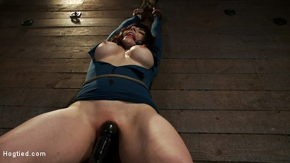 Photo number 10 from Big titted MILF, feels the evil bite of a crotch rope<br>Orgasms are ripped out of her helpless body shot for Hogtied on Kink.com. Featuring Annika in hardcore BDSM & Fetish porn.