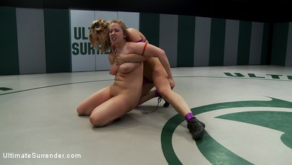 Photo number 4 from Two hot blonds battle it out in non-scripted wrestling<br> Brutal submissions & fingering on the mat shot for Ultimate Surrender on Kink.com. Featuring Addison Heart and Tara Lynn Foxx in hardcore BDSM & Fetish porn.