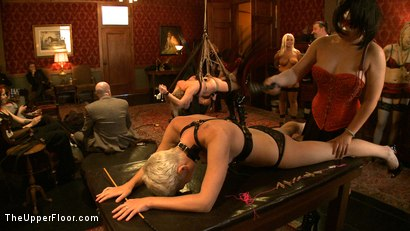 Photo number 19 from Stefanos' Brunch shot for The Upper Floor on Kink.com. Featuring Jessie Cox, Kait Snow, Nerine Mechanique and Maestro Stefanos in hardcore BDSM & Fetish porn.