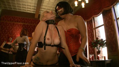 Photo number 24 from Stefanos' Brunch shot for The Upper Floor on Kink.com. Featuring Jessie Cox, Kait Snow, Nerine Mechanique and Maestro Stefanos in hardcore BDSM & Fetish porn.