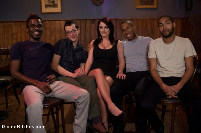 Photo number 1 from Eat your way through his cum to your chastity key, cuck! shot for Divine Bitches on Kink.com. Featuring Bobby Bends, Jessie Sparkles, Sophie Dee, Ramon Soares and Mickey Mod in hardcore BDSM & Fetish porn.