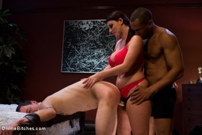 Photo number 6 from Eat your way through his cum to your chastity key, cuck! shot for Divine Bitches on Kink.com. Featuring Bobby Bends, Jessie Sparkles, Sophie Dee, Ramon Soares and Mickey Mod in hardcore BDSM & Fetish porn.